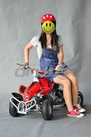 CE Approved 49CC Gas-Powered 2-Stroke Engine Mini ATV, Best Christmas Gift AT0493