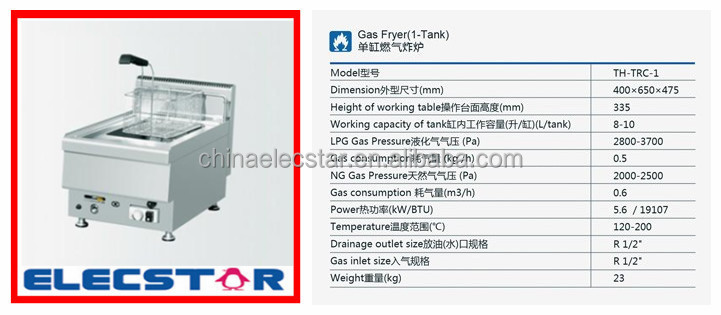 Floor Standing Gas Fryer, Countertop Gas Fryer, gas deep fryer
