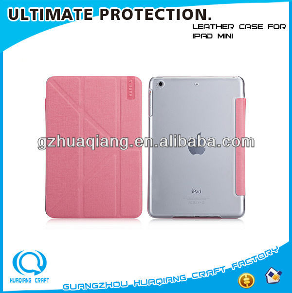 2014 brand new products summer style leather case for iPad mini/2