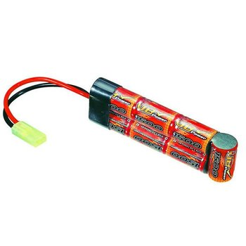 Airsoft Gun Nimh 2/3A/mini battery 1500mah 8.4v flat pack