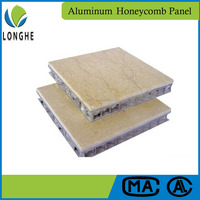 Best price curtain wall marble stone aluminum honeycomb composite panel