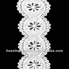 100% polyester chemical lace trim