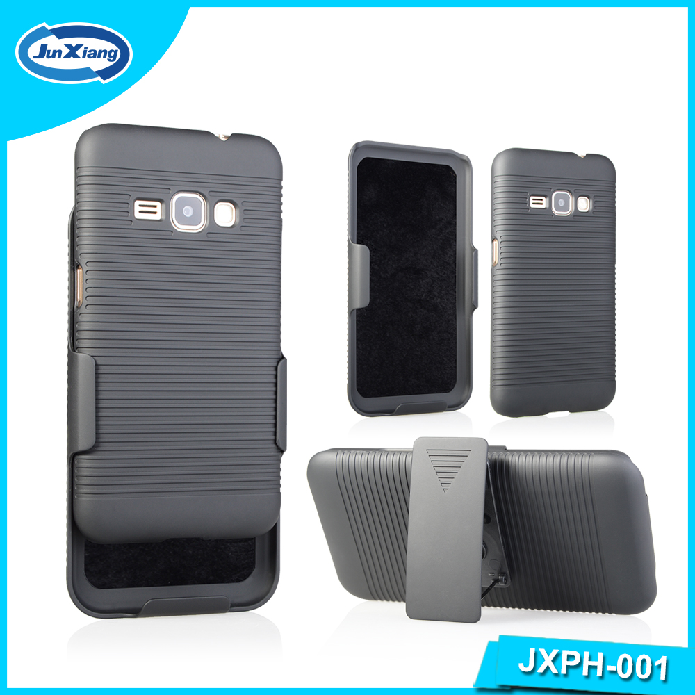 Shell Holster Combo Mobile Phone Case for Samsung Galaxy J1 2016 J120