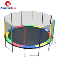 CreateFun 15ft Jump Round Trampoline With