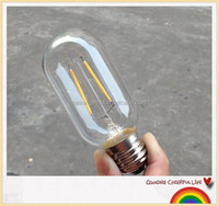 Dimmable T45 120VAC/220VAC LED filament bulb light E27 Edison led bulb