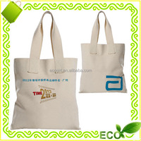 high quality customized OEM reusable 100% natural cotton canvas tote shopper promotional eco green bag