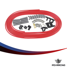 PQY RACING - 10m / set Spark Plug Wires Spiral Core 8.5mm Red For Chrysler Hemi Pro Stock For Ford Dodge Set PQY-SSC01