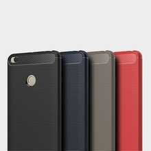 High quality Carbon fiber brushed silicone shockproof cover Case for Xiaomi Mi Max 2/Ultra slim tpu back cover for Xiaomi Mi Max