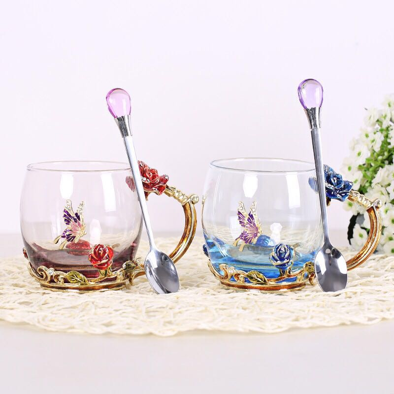 Factory directly selling prevent cracking double wall glass cup coffee glass cup