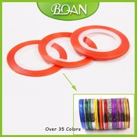 Wholesale Long Orange Color Adhesive DIY Nail Guide Sticker Tape Striping