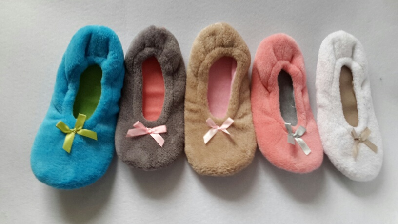 spring and autumn color fleece dance shoes