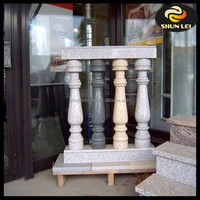 Stone hand carved railings