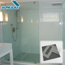 China Manufacturer privacy tempered shower cabin glass wall panels 4mm-19mm Tempered Glass For Shower Bathroom Partition