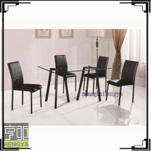Cheap high end black lacquer dining room furniture sets