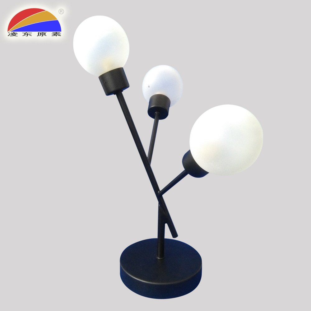 China supplier led table lamp with glass ball lampshade for hotel or home