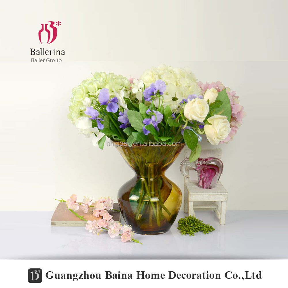 Ballerina hand blown glass art home decoration accessories different types colored glass vase