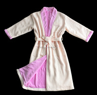 High quality 100% Cotton thick Waffle and velour terry cloth double layer Bath Robe for women