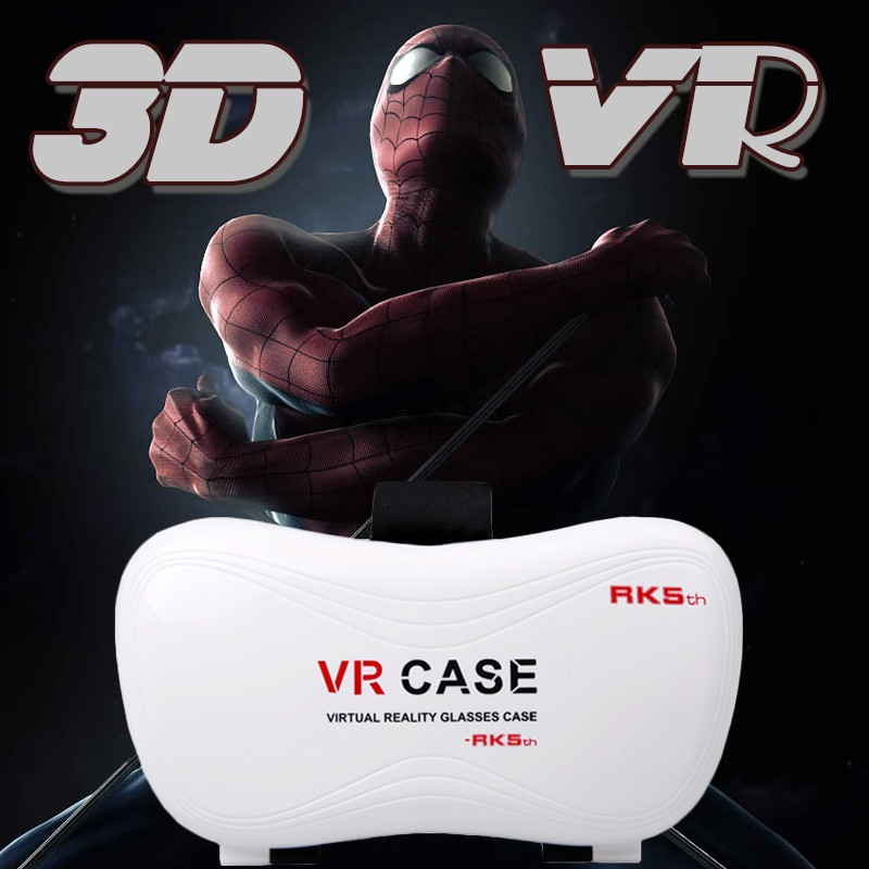 VR CASE 5Plus 3D VR Glasses Gogle cardboard 3D Video for 4.0-6.3 inch Phone Bluetooth Remote