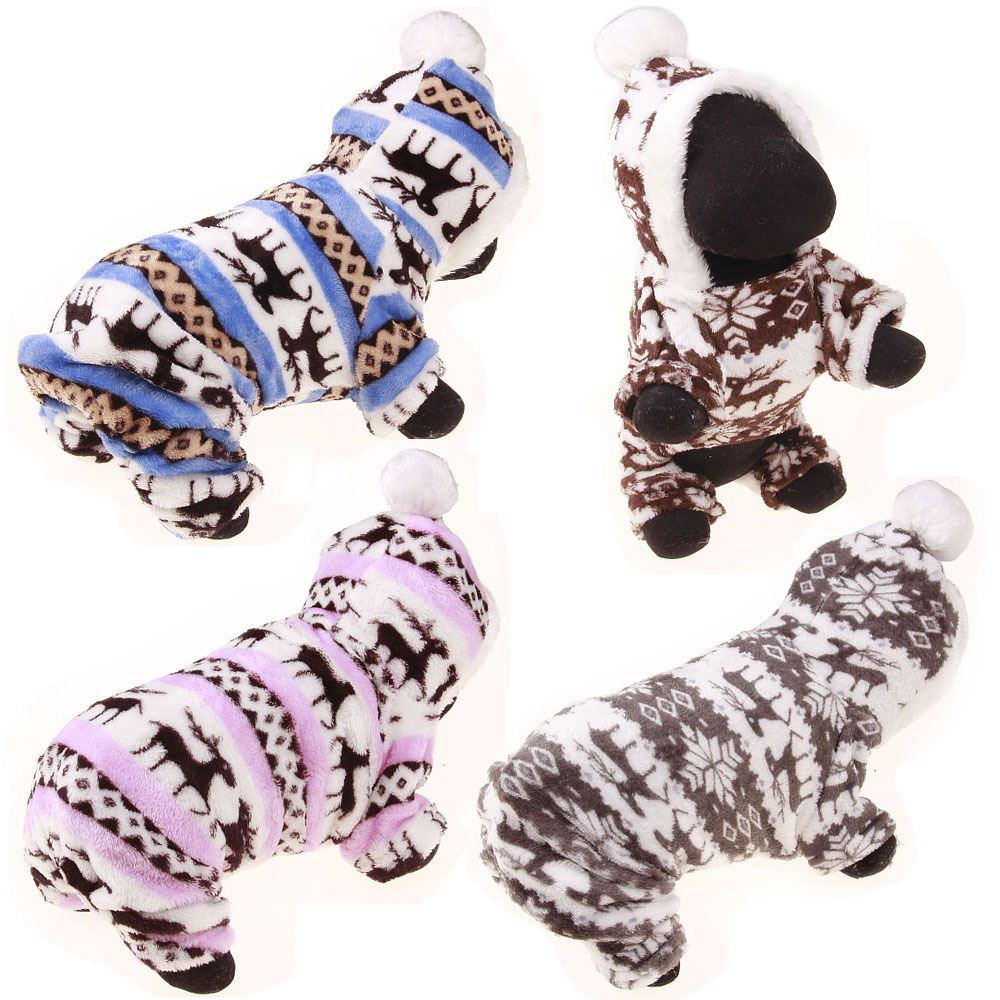 Soft Winter Warm Pet clothes pet clothing Deer cotton puppy s coat winter jacket for small s sweatshirt girl