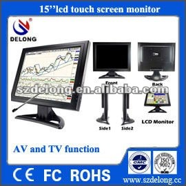 "hot sale!15"" inch vga tft lcd touch screen <strong>monitor</strong> for pos machine"