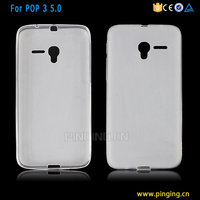 Wholesale soft pudding frosted tpu mobile phone cover for alcatel pop 3 5 case
