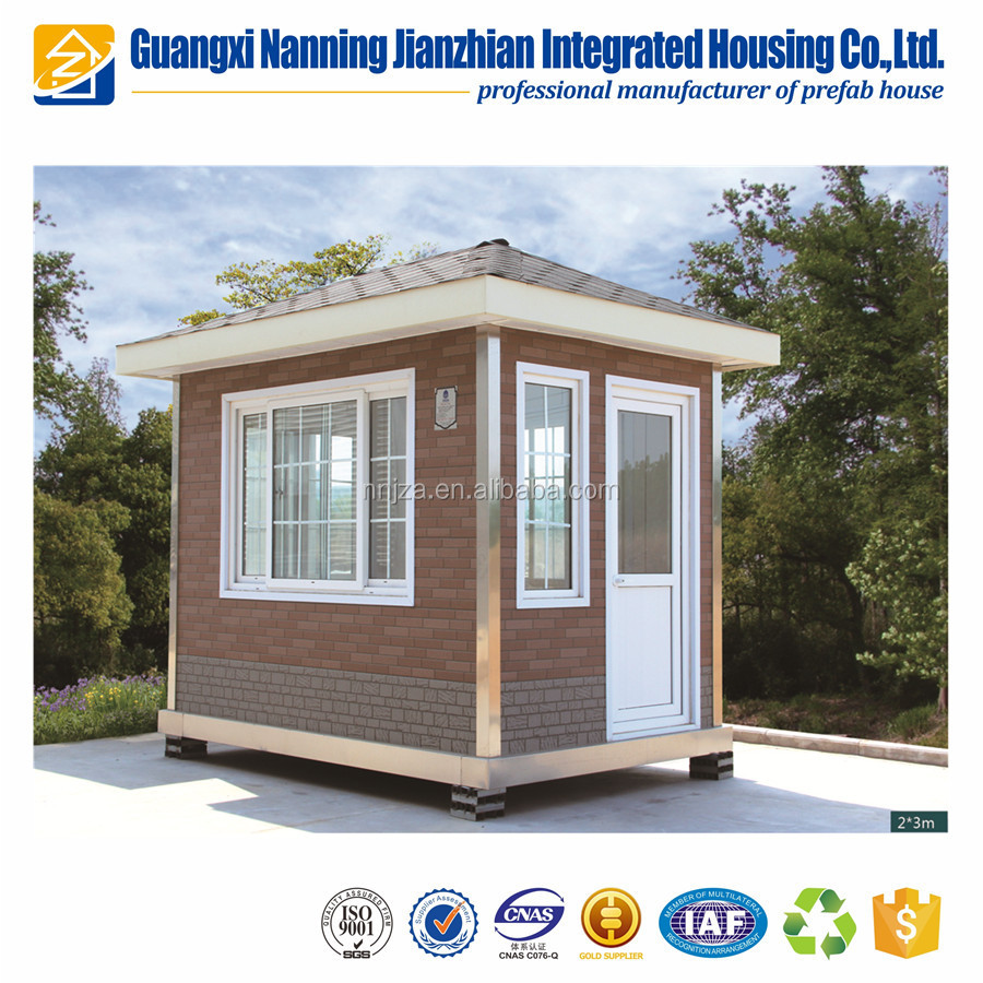 Environmental portable steel structure prefabricated house security booth cabin
