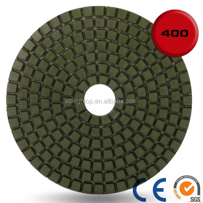"Diamond Polishing Pads 4"" inch Wet/Dry Set of 11+1 Backer Pad"