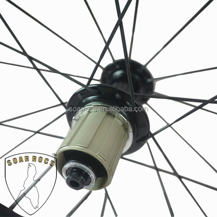 700C carbon 50mm wheels biceramic bearing hub U shape 25mm width UD matte finish internal drilling hole 50mm clincher wheelset