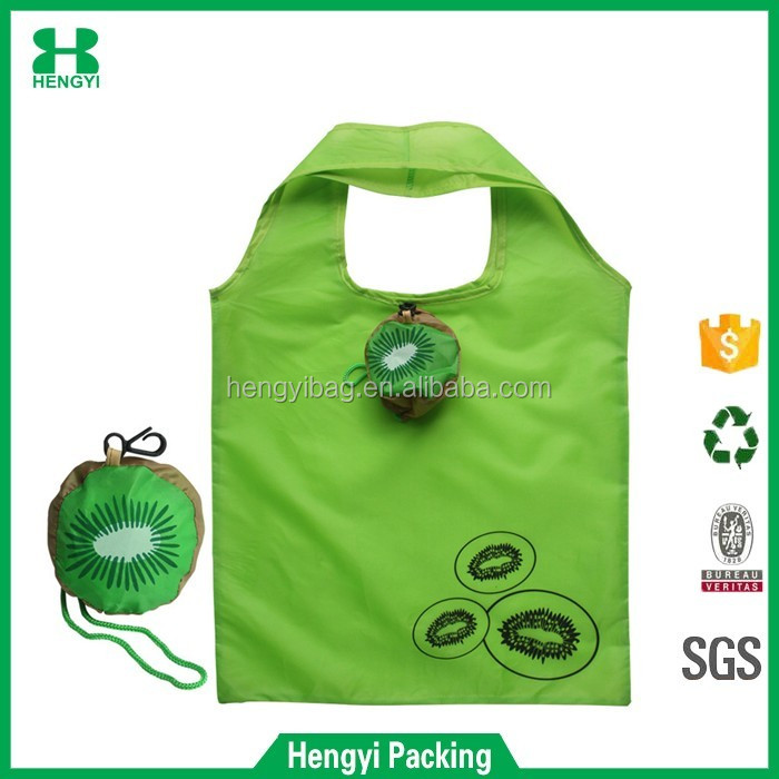 V02 Wenzou HY Strong Polyester folding zipper Bag/Wholesale Drawstring Backpack/recyclable tote shopping bag