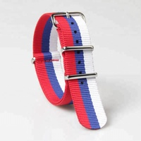 Polished stainless steel watch buckle high quality nato straps nylon fabric watch strap 20mm watch bands