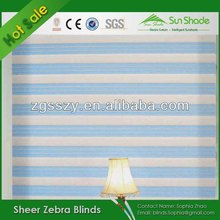 Manual/Motorized Operation Double Zebra Blinds Curtain/Zebra Roller Blinds/Zebra Shades
