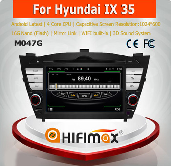 HIFIMAX Android 4.4.4 car dvd gps navigation system for Hyundai Tucson/IX35(2009-2010) with bulit-in wifi & bulit-in mirror link