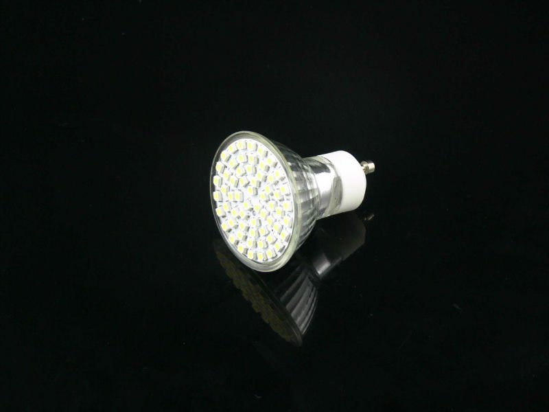 60pcs 3528 smd spotlight glass cup GU10 with ce and rohs