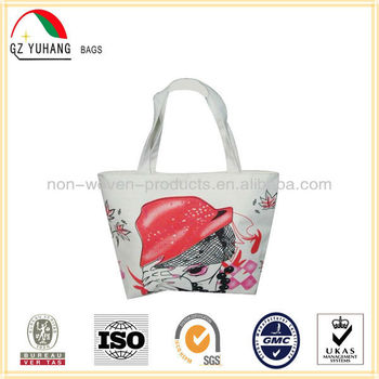 hot selling colorfur printed canvas bag for shopping