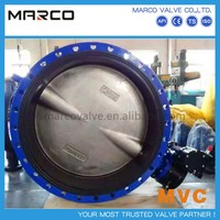 Professional supply lever and worm gear operated wafer/flanged/lug end connection u type butterfly valve