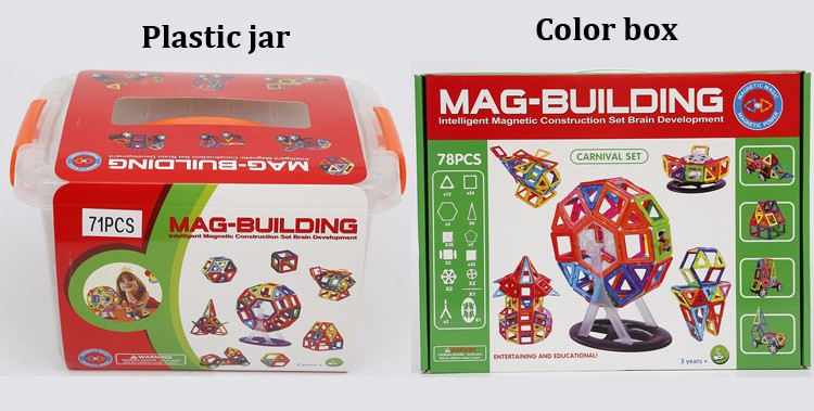 Plastic Building Block Magnetic Toys Plastic Building Bricks Toy
