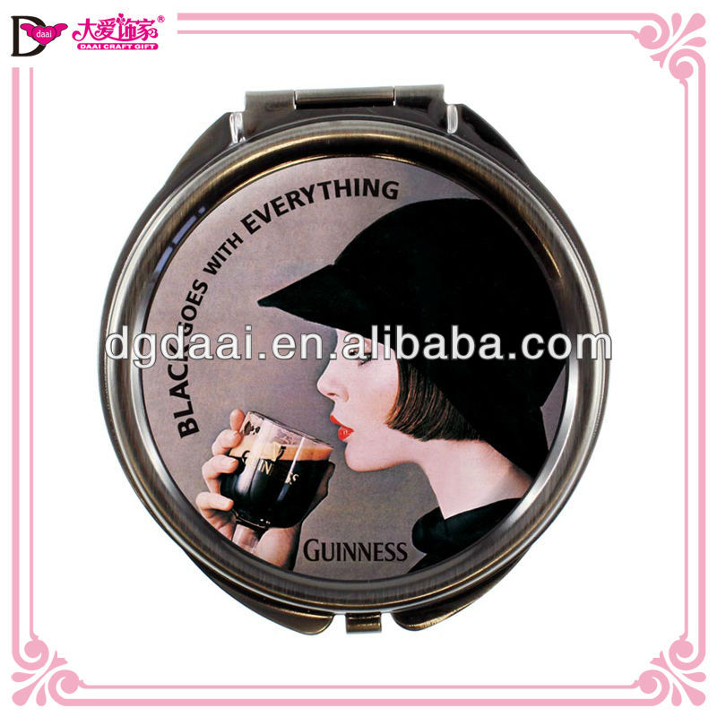 New design vintage epoxy compact mirror custom logo compact mirror