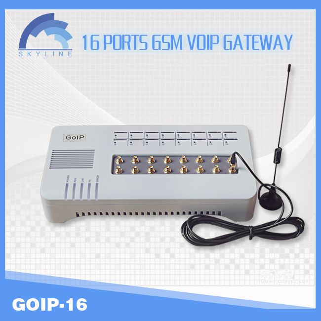 New Model goip 16 gsm gateway / ip pbx asterisk support SIP and H323