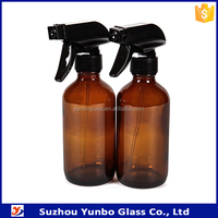 Amber Spray Bottles 8oz with Heavy Duty Mist and Stream Sprayer