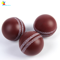 custom logo pu foam cricket anti stress ball