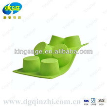 round shaped silicone mould for cake -six packs