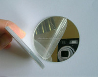 disc shaped acrylic mirror with adhesive backed for sticking