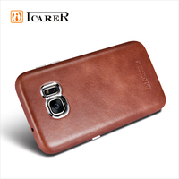 ICARER Genuine Leather Phone Case for Samsung Galaxy S7 Ultra Thin Back Cover Vintage Series