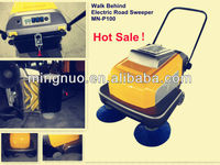 walk behind sweeper, CE hand push floor sweeper/vacuum street cleaning machine/power broom sweeper