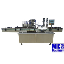 MIC-L40 bottle filling capping and labeling machine spray bottle liquid filling machine with 50 BPH with ce