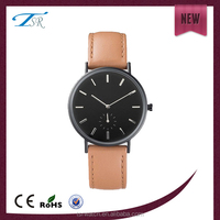 2015 fashion design leather watch with factory price