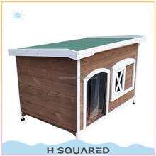 Outdoor wooden dog kennel with PVC Door Strip wholesale
