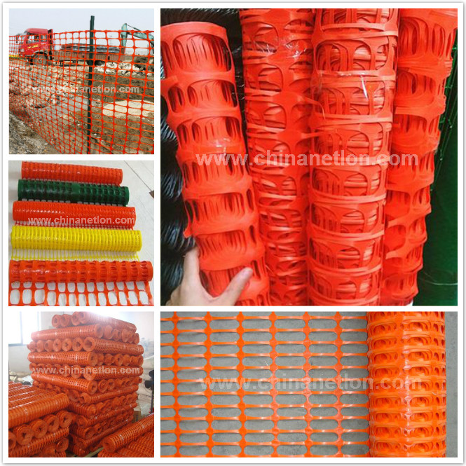 Orange plastic Warning snow Fence with UV resistance
