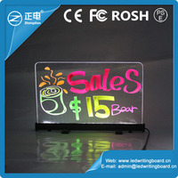 Best selling aluminium alloy acrylic panel transparent electronic message led writing light board advertising for bar