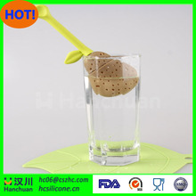 New design floating strainer silicone tea infuser with low price